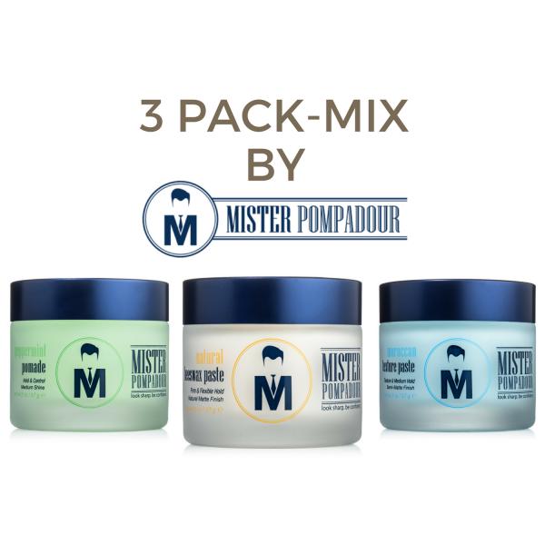 3 Pack-Mix - Mister Pompadour - Sprezstyle
