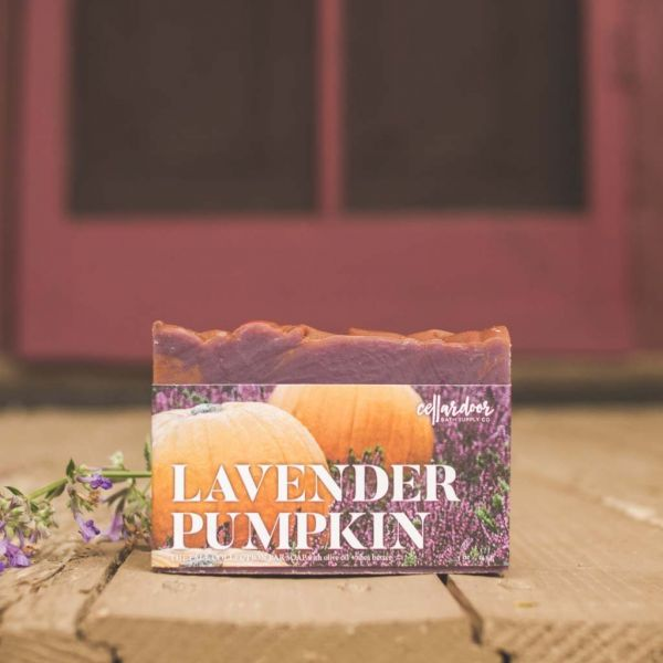 Cellardoor Bath Supply Co. Lavender Pumpkin Bar Soap - Seifenstück 142g